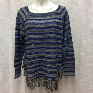 New Directions Blue and Gray Top Size S